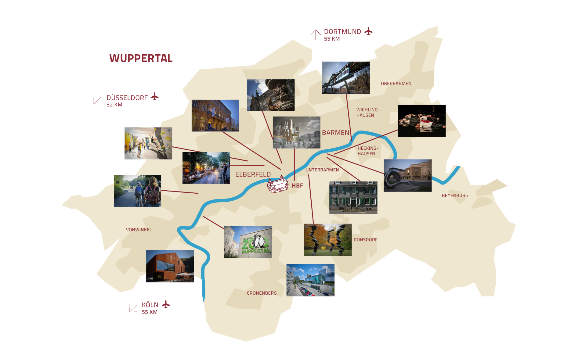 Wuppertal Karte Stadtteile.Wuppertal Historische Stadthalle Wuppertal